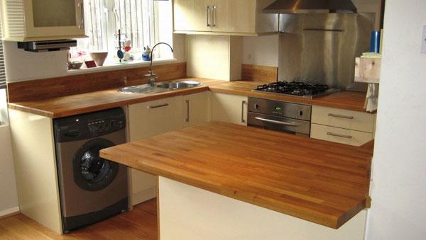 Столешницу из дерева для кухни